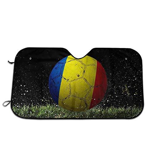 Vlag van Roemenië Auto Voorraam Zonnescherm Voorruit Zonnescherm Venster Voorruit Cover Universele Fit Auto UV Ray Zon en Warmte Visor Bescherming (27,5 X 51 Inch)