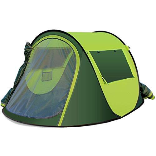 Tente Épaisse Automatique Extérieure, Tissu Oxford Multifonctionnel Léger Et Imperméable, Grande Capacité, Portable, Ouverture Rapide, Épaissir, Camping (Couleur: Jaune)