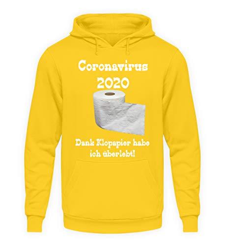 generisch Coronavirus 2020 – gracias al papel higiénico he sobrevivido. - Sudadera unisex con capucha. Amarillo solar. XL
