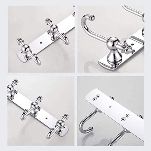Wandkleden Kapstok, Kapstokhaak Badkamer Keuken Slaapkamer Zilveren Roestvrij Staal (Size : 5 Hooks)