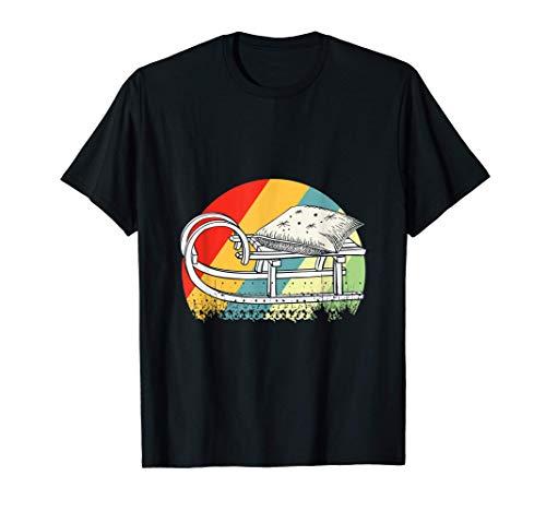 Schlitten - Schlittenfahren Retro Rodeln Geschenk T-Shirt