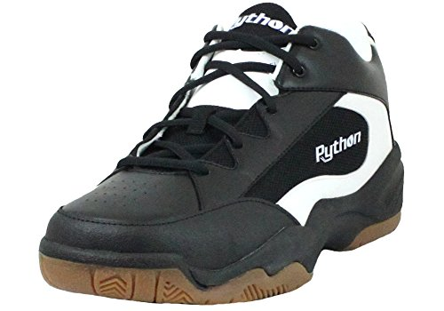 Python Wide (EE) Width Indoor Mid Racquetball (Squash, Indoor Pickleball, Badminton, Volleyball) Shoe (Black; Size 12.0)