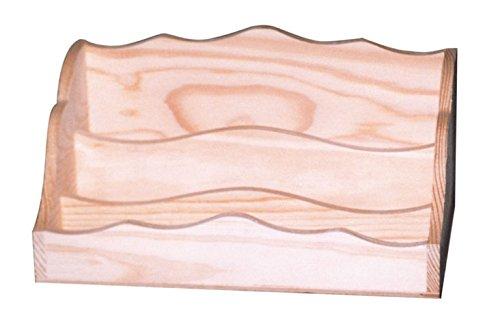 Tarjetero madera sobremesa en crudo. Ideal para pintar. Medidas (ancho/fondo/alto): 25 * 15 * 14 cms.