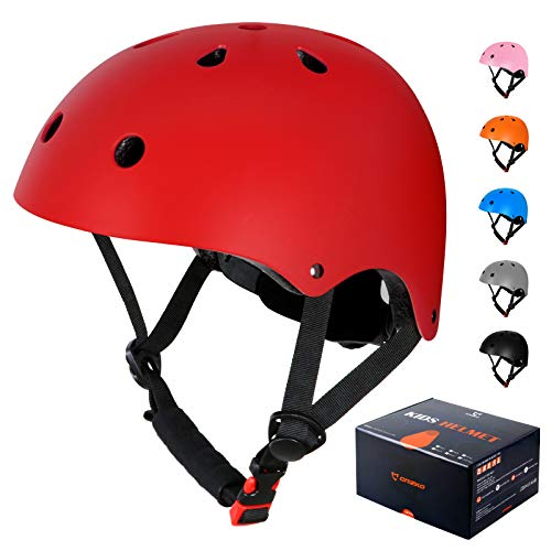 CRZKO Kids Bike Helmet, Safety Toddler Helmet Anti-Shock for Multi-Sport, Cycling Skate Scooter Skateboard, ASTM & CPSC Certified, Adjustable from Toddler to Youth with 3 Sizes