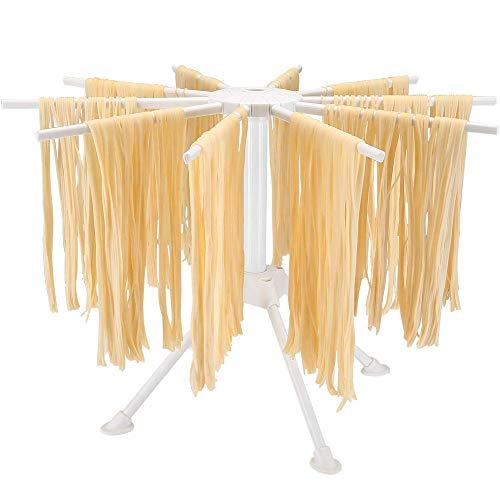 DIYARTS 10 Row zusammenklappbare Nudeln Wäscheständer stabile handgemachte Nudel hängen Stehen Geschirr hausgemachte Pasta Gadget Pasta Drying Rack