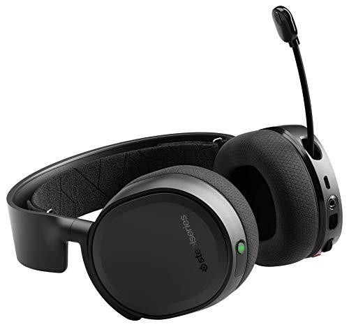 SteelSeries Arctis 3 Bluetooth, Cuffie da Gioco Cablate e Senza Fili per Nintendo Switch, PC, PlayStation 4, Xbox One, VR, Android e iOS, Cablata, Nero [Edizione 2019]