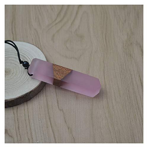 AOSUAI Llaveros Collar De Madera De La Resina De Madera De La Mujer De Los Hombres De La Vendimia Regalos De La Cadena De La Cuerda Tejida del Colgante Compacto (Metal Color : 15)