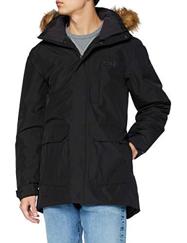 Helly Hansen Men's Dubliner Parka 100 Gram Primaloft Insulated Waterproof Windproof Breathable Rain Coat with Hood, 990 Black, Medium