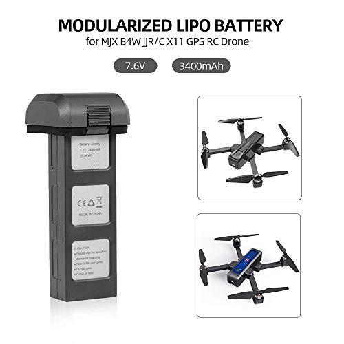 YUNIQUE Deutschland ® 1 Stuck 7.6V 3400mah Lithium Batterie für MJX Bugs 4W B4W D88 EX3 HS550 Faltender Brushless Quadcopter Ersatzteile RC Drohne Lithium Akku