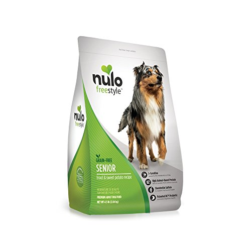 Price comparison product image Nulo Senior Grain Free Dog Food With Glucosamine And Chondroitin (Trout And Sweet Potato Recipe,  4.5Lb Bag)