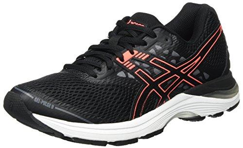 Asics T7D8N9006, Zapatillas de Running para Mujer, Negro (Black/Flash Coral/Carbon), 37 EU