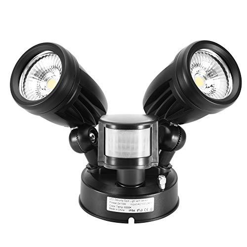 Careslong LED Strahler Außen mit Bewegungsmelder, 30W Dual Lampe 2 Flutlicht mit 2 verstellbaren Köpfen 2700 lm Superhell LED Fluter Außenleuchte IP54 Wasserdicht die Sicherheit(Weiß)