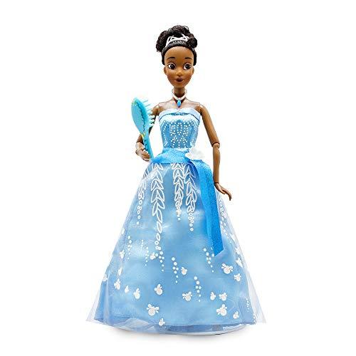 Disney Muñeca Tiana Premium con vestido iluminado – La princesa y la rana 11 pulgadas