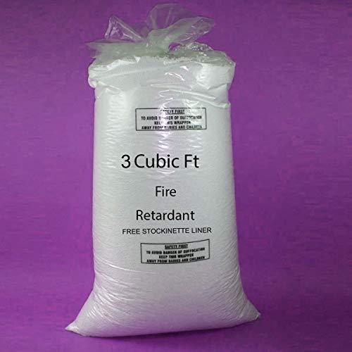 3 Cubic Feet Bean Bag Booster Refill Polystyrene Beads Filling Top Up Bag Beans Balls