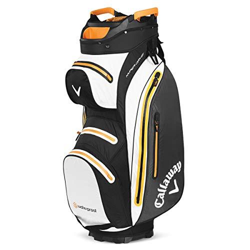 Callaway Mavrik Hyperdry 15 Golf Cart Tasche (2020), Schwarz/Weiß/Orange