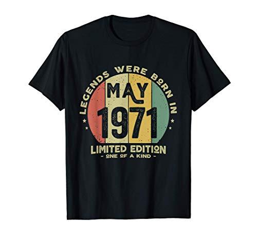 50 Anni Compleanno - Le Leggende Sono Nate nel Maggio 1971 Maglietta
