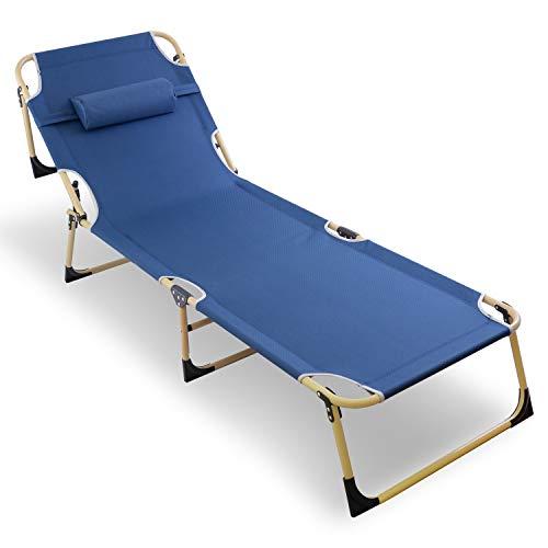コット 折りたたみベッド (4段階のリクライニング調整可能!) 簡易ベッド 【 組み立て不要! 耐荷重200kg 】 折り畳みベッド ベッド 『高強度スチールフレーム 撥水・防水加工済み!(1200D オックスフォード)』 ビーチチェア ボンボンベッド ア