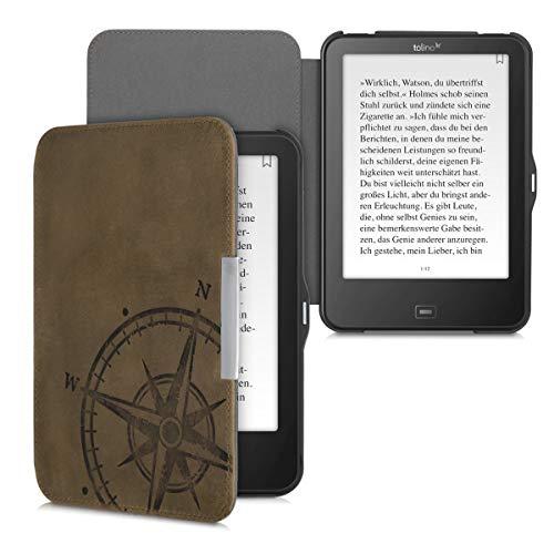 kalibri Tolino Vision 1/2 / 3/4 HD Hülle - Leder eBook eReader Schutzhülle Cover Hülle für Tolino Vision 1/2 / 3/4 HD