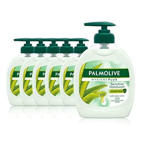 Palmolive Seife Hygiene-Plus Sensitive 6 x 300 ml, antibakteriell, für alle Hauttypen, flüssige Handseife