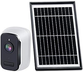 كاميرا أمان للاستخدام الخارجي لاسلكي، كاميرا المراقبة القابلة لإعادة الشحن تعمل بالبطارية واي فاي 1080P مع لوحة شمسية، رؤي...