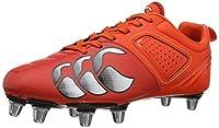 canterbury Men's Phoenix Club 8 Stud Rugby Boots E22319 - A62 Cherry Tomato/Molten Lava/White 12 UK, 47 EU by Canterbury
