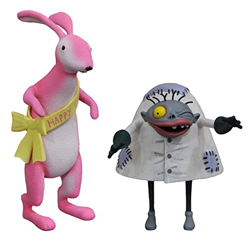 DIAMOND SELECT TOYS The Nightmare Before Christmas Select: Easter Bunny & Igor Action Figure 2 Pack