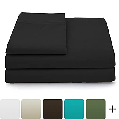 Cosy House Collection Luxury Bamboo Bed Sheet Set - Hypoallergenic Bedding Blend from Natural Bamboo Fiber - Soft Hypoallergenic Fabric, Resists Wrinkles