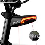 MEILAN X5 USB Rechargeable Smart Bike Tail Light Wireless Turning Signal Bike Light Bicycle Rear Light Waterproof with a Wireless Remote Control Cycling Safety Warning Light