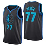 Miyapy NBA Dallas Mavericks #77 Luca Doncic Camiseta de Jugador de Baloncesto...