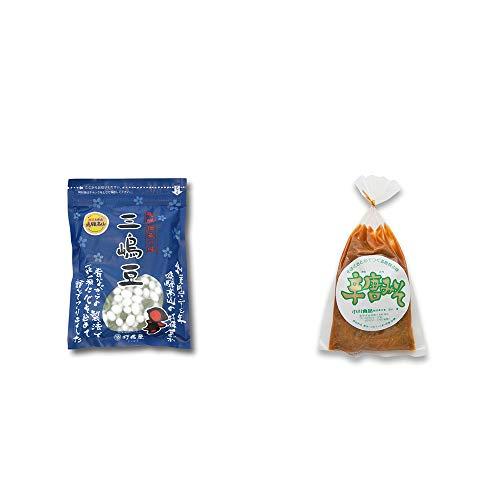[2点セット] 飛騨 打保屋 駄菓子 三嶋豆(150g)・辛唐みそ(130g)