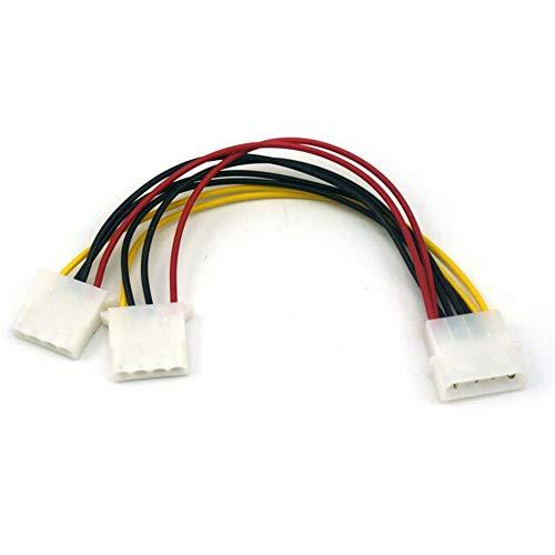 18 cm 2-poliges 4-poliges Netzteil-Verteilerkabel LP4 1 bis 2 (Gelb)
