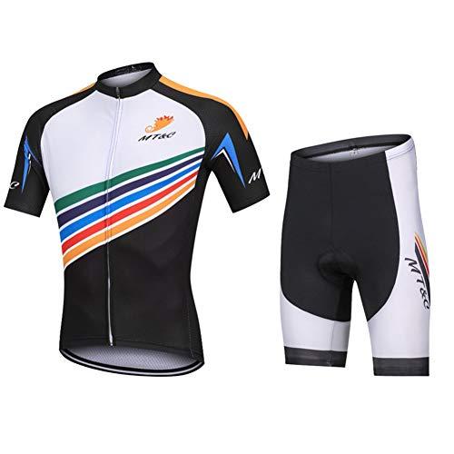 Conjunto Ropa Equipacion Traje Ciclismo Hombre para Verano, Maillot Ciclismo Hombre+Ciclismo Culote...