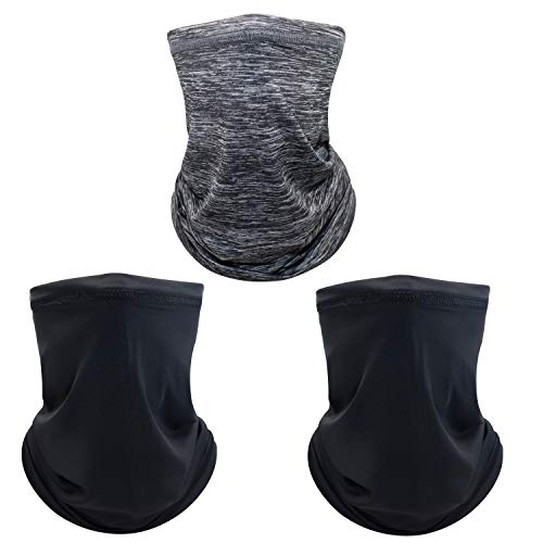 Face Neck Gaiter Tube Mask, Anti Sun UV Sunscreen Dust Windproof Scarf, Breathable Bandana Balaclava Headbands for Workout Sport&Outdoor Running Hiking Riding Motorcycling Biking