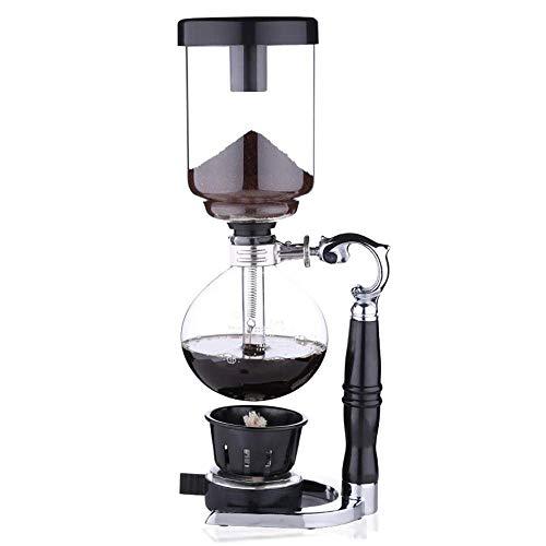 CENPEN Vakuum-Kaffeemaschine Syphon Kaffeemaschine Manuell Haushalt Syphon Topfset Glas Kaffeemaschine Kaffee Syphon Pot Kaffee Appliance (Farbe: Schwarz, Größe: 34x15cm)