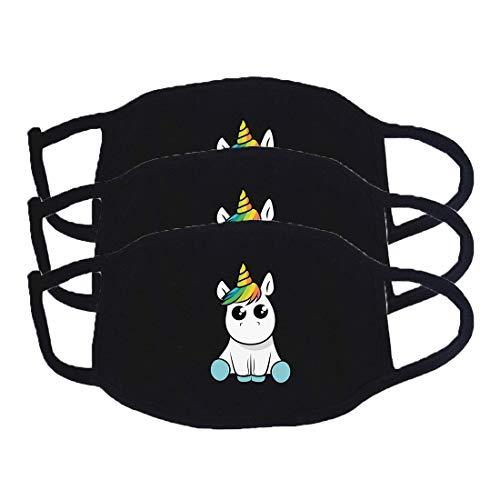 DRAKE18 Waschbarer Mundschutz, Wiederverwendbare atmungsaktive Baumwoll-Gesichtsbedeckung Gegen Staubnebel Pollenschutzwerkzeug für das Radfahren im Freien,3PCS B