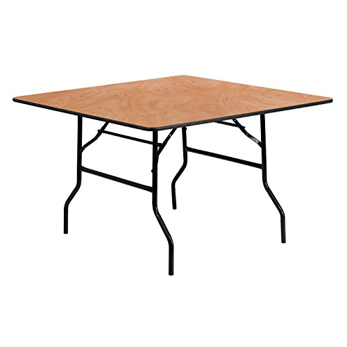 Flash Furniture 48SQ Wood Fold table, Black
