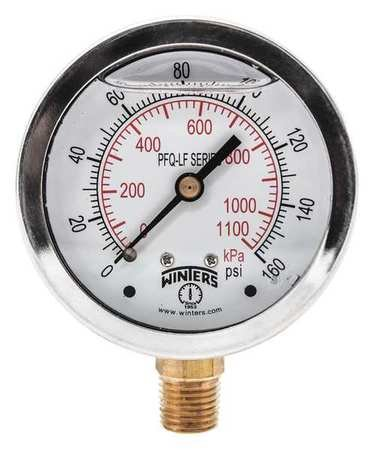 Gauge SALENEW very popular Manufacturer regenerated product Pressure 4in 0 psi to 160