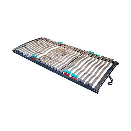 Prosanvita Lattenrost Rabul nv, mit 28 starken Ergo-Flex Systemleisten, 5-fach Härteverstellbar, für jeden Matratzentyp geeignet, Größe: 120x200