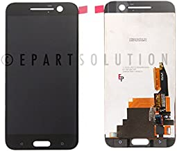 ePartSolution_LCD Display Touch Screen Digitizer Glass Lens Assembly for HTC One 10 M10 M10H 2PS6400 Replacement Part (Black)