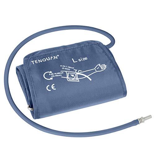 Tenquan Brazalete grande para monitor de presión arterial, brazalete de circunferencia de brazo para presión arterial digital superior del brazo con conector (22-48 cm)