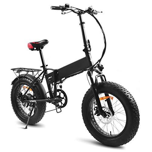 Souleader 20Pollici Bici Elettrica Pieghevole,Bicicletta elettrica assistita 48V/8Ah Batteria al Litio,Bici elettrica Lega di Alluminio,Sedile Regolabile,Compatta Portatile,velocità Massima 25-32km/h