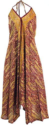 Guru-Shop Boho Sommerkleid, Magic Dress, Maxirock, Midikleid, Strandkleid, Damen, Rostrot, Synthetisch, Size:40, Lange & Midi-Kleider Alternative Bekleidung