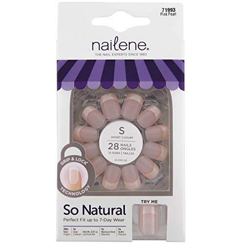 Nailene So Natuurlijke nagels met tabs en lijm kort Pearl Fuzzy