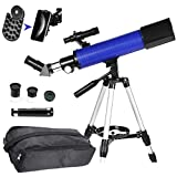MaxUSee 70mm Telescope Focal Length 500mm for Kids Adults & Beginners, Refractor Telescope with Carrying Bag Phone Adapter and Stable Tripod