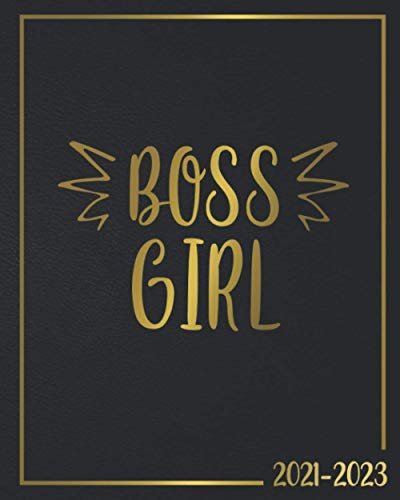 Boss Girl 2021-2023: Gorgeous Gold Three-Year Schedule Agenda & Planner with Weekly Spread View - Stylish Black 3 Year Organizer & Calendar with To-Do's, Vision Boards and Inspirational Quotes