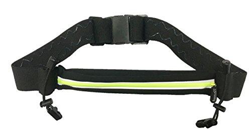 It's Running Single Race Belt Laufgürtel Hüfttasche, Black/Yellow, One Size