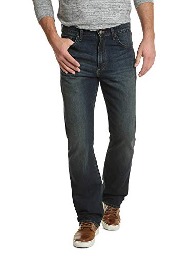 Wrangler Authentics Men's Relaxed Fit Boot Cut Jean, Dirt Road, 34W x 32L