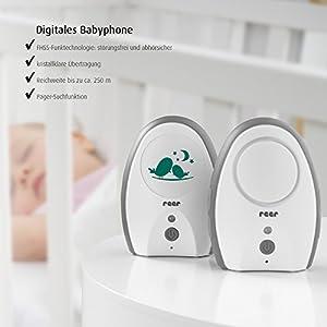 reer 50040 Babyphone Neo Digital – 100% abhörsicher, strahlungsarm, 250m Reichweite
