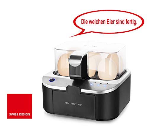 Emerio EB-123177.1 smarter Eierkocher, Schwarz