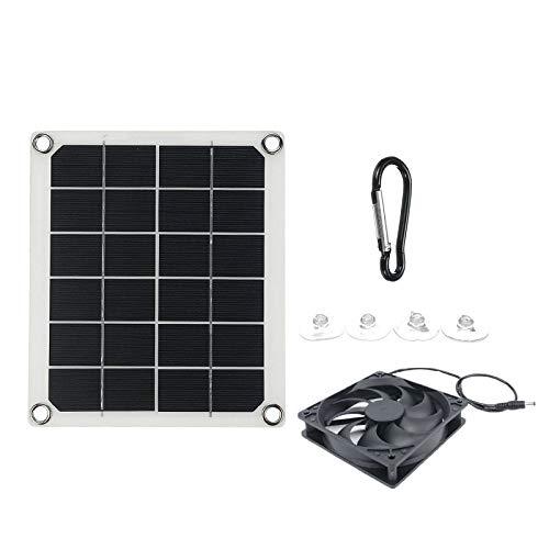 bobotron Ventilador de escape de panel solar, 5V10W impermeable solar ventilador de escape, ventilador de escape portátil para caravanas, invernaderos, casas de mascotas